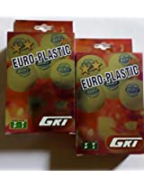 Gki Euro Plastic Table Tennis Balls (Pack of 12)