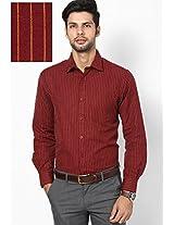 Red Slim Fit Formal Shirt John Players