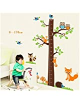 UberLyfe Tree Height Chart with Animals Wall Sticker for Kids Room - XL