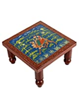 Trendy Brown Wood Table Camel Hand Painted By Rajrang
