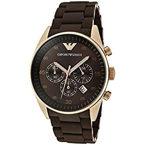 Armani Sportivo Chronograph Brown Dial Men's Watch - AR5890