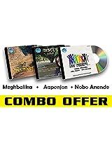 Rabindra Sangeet Combo-7 Meghbalika + Aaponjon + Nobo Anonde