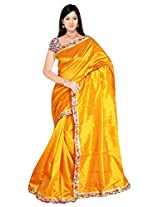 Fashion Apparel Women's Silk Saree with Blouse Piece (Yellow )