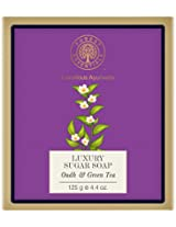 Forest Essentials Oudh and Green Tea Luxury Sugar Soap, 125g