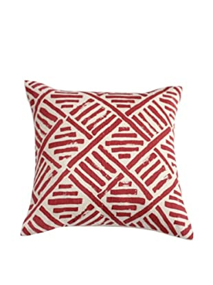 Filling Spaces Hand-Printed Brushstroke Pillow, Flame