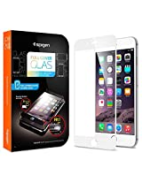 "Spigen Oleophobic Coated Tempered Glass ""Full Coverage"" White for iPhone 6 Plus SGP11379"