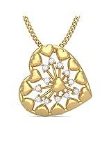 BlueStone Bloom Collection 18k Yellow Gold and Diamond Laina Pendant