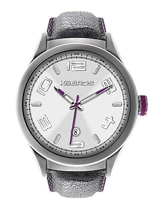 K&BROS 9456-2 / Reloj de Caballero  con correa de piel Blanco