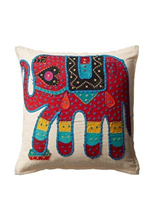 Elephant Pillow Case, Red/Blue