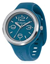 Columbia Blue Silicon Analog Women Watch CT005 410