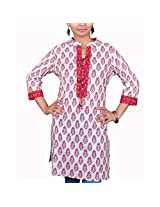 VGF 3/4 Sleeve Printed Cotton Kurti For Women-X-Small