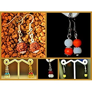 Varishta Jewells Jiva - Set of 6 pairs of daily wear dangles