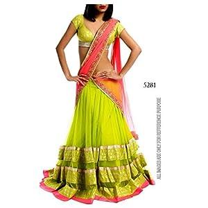 Viveka Fashion Designer Lengha Choli, Green