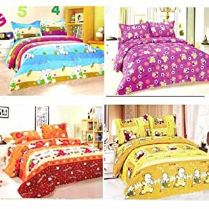 Designer Buy 2 Get 2 Bed Sheets With Pillow Covers