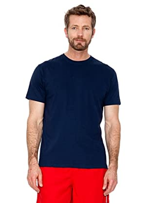 Cortefiel T-Shirt Basic (Marineblau)