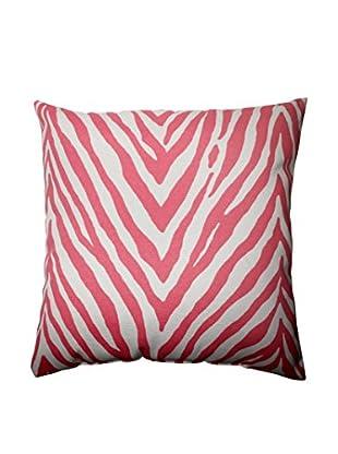 Zebra Spring Pink Indoor/Outdoor Throw Pillow