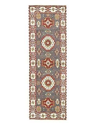 eCarpet Gallery One-of-a-Kind Hand-Knotted Royal Kazak Rug, Cream/Dark Grey, 2' 9
