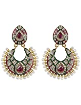 Beautiful Gold Plated Crystal-Pearl Made Exclusive Fashion Earring For Women Gift Jewelry