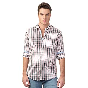 Business Casual Neo Slim Fit Check Shirt