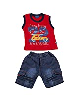lizzy lazzy Baby-Boys' 2Pc Dress Set (blue, 12 Month)