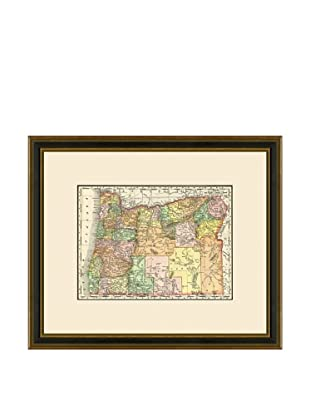 Antique Lithographic Map of Oregon, 1886-1899