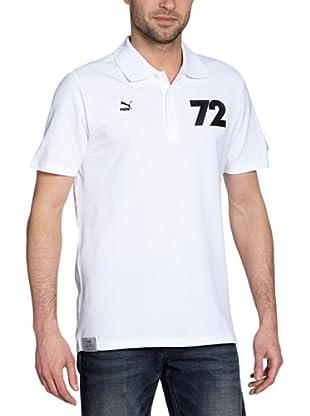 Puma Polo T-Shirt Football Archives T7 (white-germany)