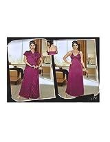 Indiatrendzs Women's Sexy Honeymoon Fuchsia 2pc Set Hot Nighty Freesize