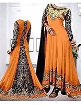 Shree Fashion Woman's Georgette With Dupatta [Shree (89) Green_Green]