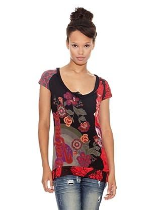Desigual Camiseta Aycuarto (Negro Estampado)