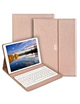 COO Ipad Pro Keyboard Case 12.9 Inch Pu Leather Auto Wake/ Sleep Smart Case Ultra-Fit with Wireless Bluetooth Keyboard & Stand Holder For Apple iPad Pro(Champagne)