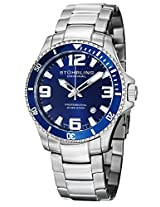 Stuhrling Original Aquadiver Analog Blue Dial Men's Watch - 395.33U16