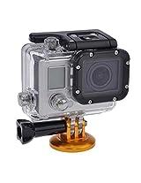 Neewer Camera Aluminum Tripod Head Adapter Mount for GoPro HD Hero 4/3+/3/2/1 (Golden)