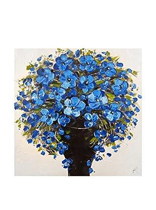 Arte dal Mondo  Wandbild Paolo Rossini Dipinto Vaso Fiori Blu