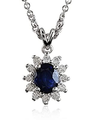 Divas Diamond Collar Zafiro Plata