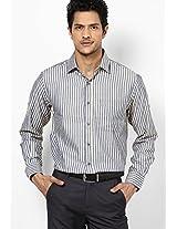 Yellow Striped Formal Shirt
