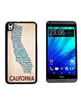 California Funny Hard Plastic and Aluminum Back Case for HTC Desire 816