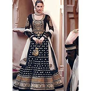 ODFashion Embroidered Pakistani Salwar Suit - Black
