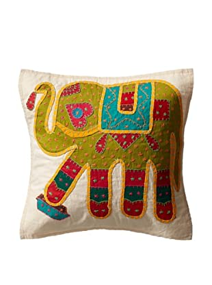 Elephant Pillow Case, Green