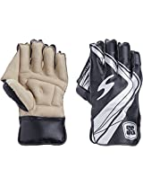 SS College Men's Wicket Keeping Gloves (White/Black)