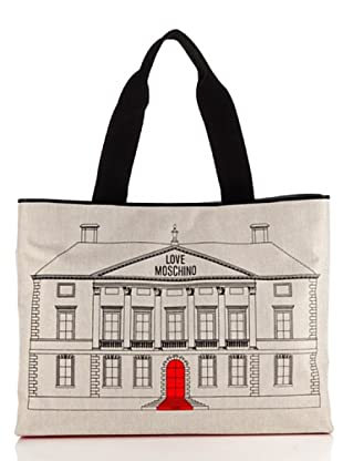 Love Moschino Shopper Canvas St. Palazzo (Elfenbein)