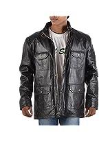 Yas Fashions Men's Regular Fit Leather Winter Jacket ( Y05-XXXXX Large_Black_XXXXX-Large )
