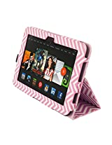 Kyasi Seattle Classic Folio Case with Sleep, Wake and Magnetic Close for Kindle HD, Wobbly Pink