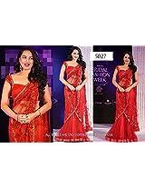Bollywood Premium Replica Sonakshi Sinha Net Lehenga In Red Colour Ncp663