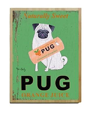 Artehouse Pug Bamboo Wood Sign