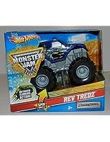 Hot Wheels Monster Jam Rev Tredz BOUNTY HUNTER Official Monster Truck Series 143 Scale
