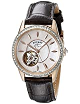 Rotary Womens ls90515/41 Analog Display Swiss Automatic Brown Watch