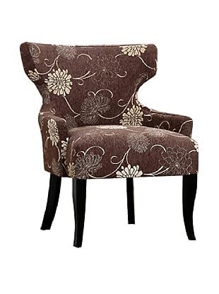 Abbyson Living Hyder Fabric Lounge Chair, Rich Mocha/Hazel