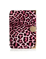 Gearonic Leopard Smart Magnetic Cover Stand Clip and Credit Card Slots for iPad Mini 2 with Retina Display, Purple Leopard (AV5787-Purple-ipm)