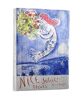 Artehouse Nice Soleil Fleurs Reclaimed Wood Sign