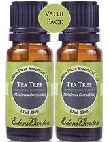 Value Pack 2-10 ml Tea Tree (Melaleuca) 100% Pure Therapeutic Grade Essential Oil